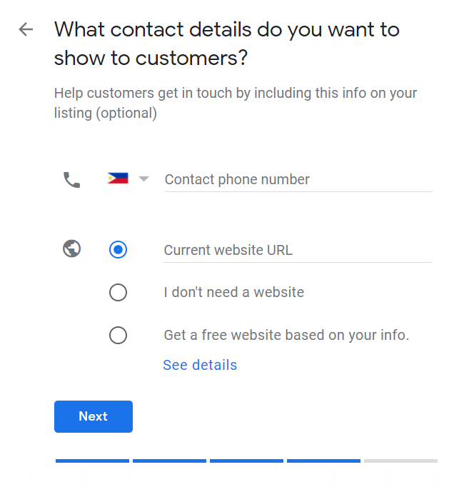 How to Set Up Your Google My Business Account 09 Enter Contact Details