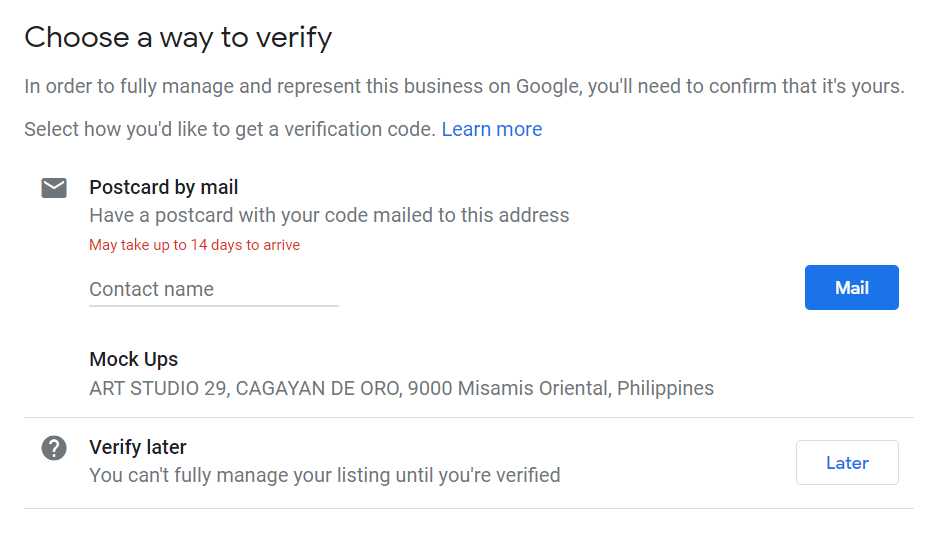 How to Set Up Your Google My Business Account 12 Verify Your Business