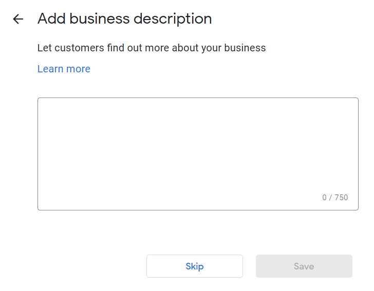 How to Set Up Your Google My Business Account 15 Add Business Description