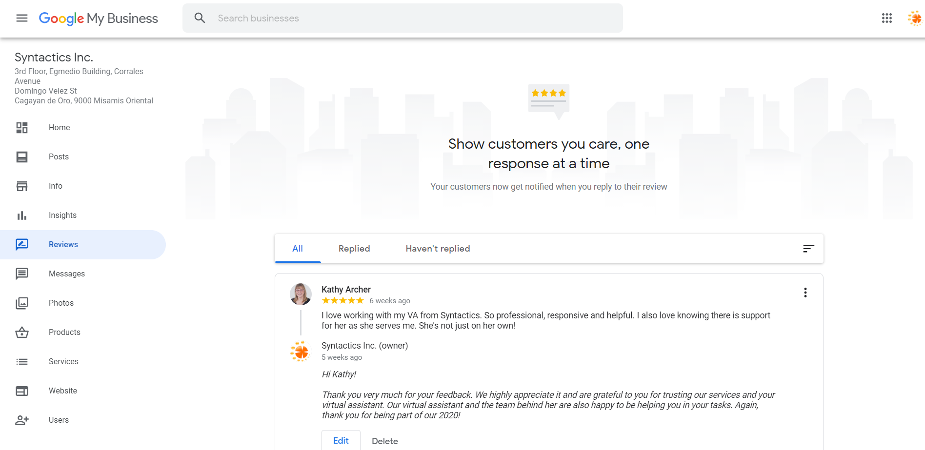 How to Set Up Your Google My Business Account 23 Reviews Tab Preview