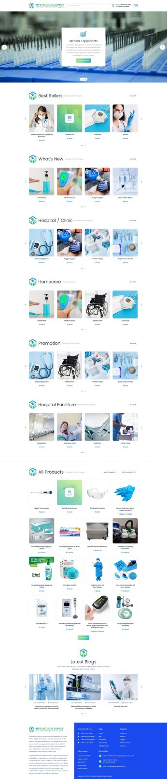 Syntactics Recent Project - MTG Medical Supply - Homepage