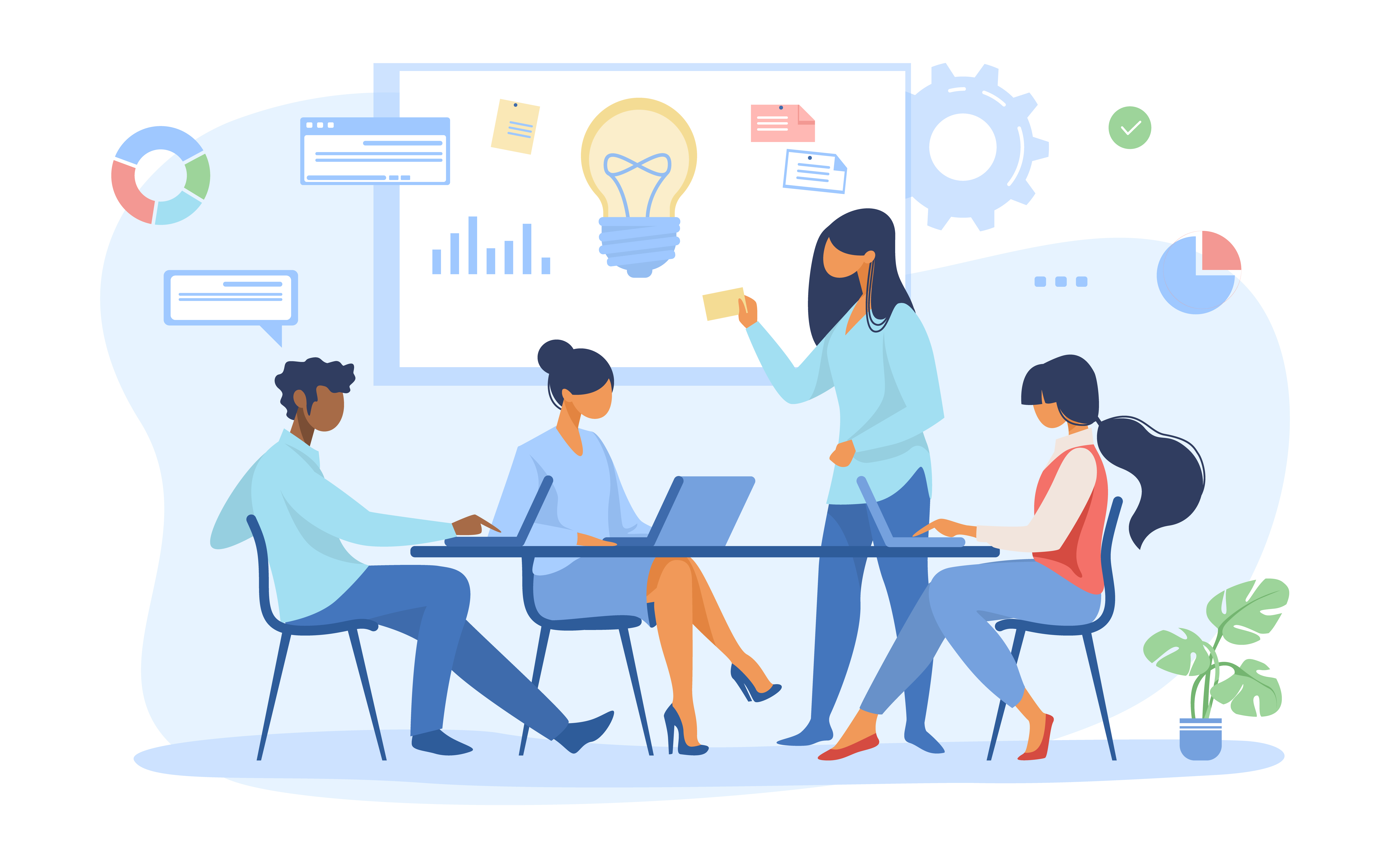 Must-Have Technical Skills of a Website Project Manager Project Manager Facilitating a Meeting with Development Team