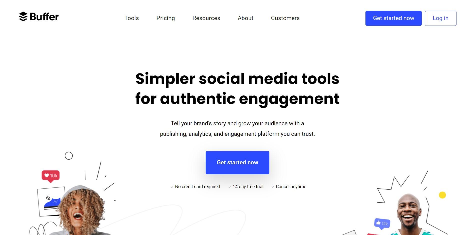 Social Media Management Tools for Various Platforms Buffer 1