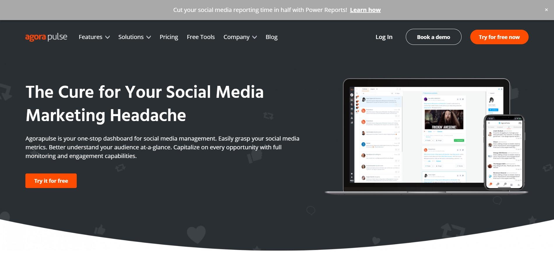 Social Media Management Tools for Various Platforms Agorapulse 1