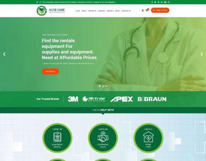 Alfie Care 1. Homepage