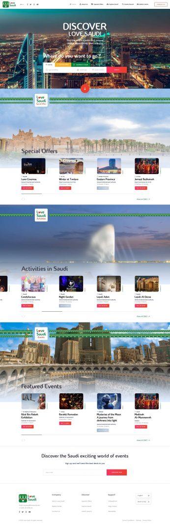 Syntactics Recent Project - Love Saudi 1.1 Home