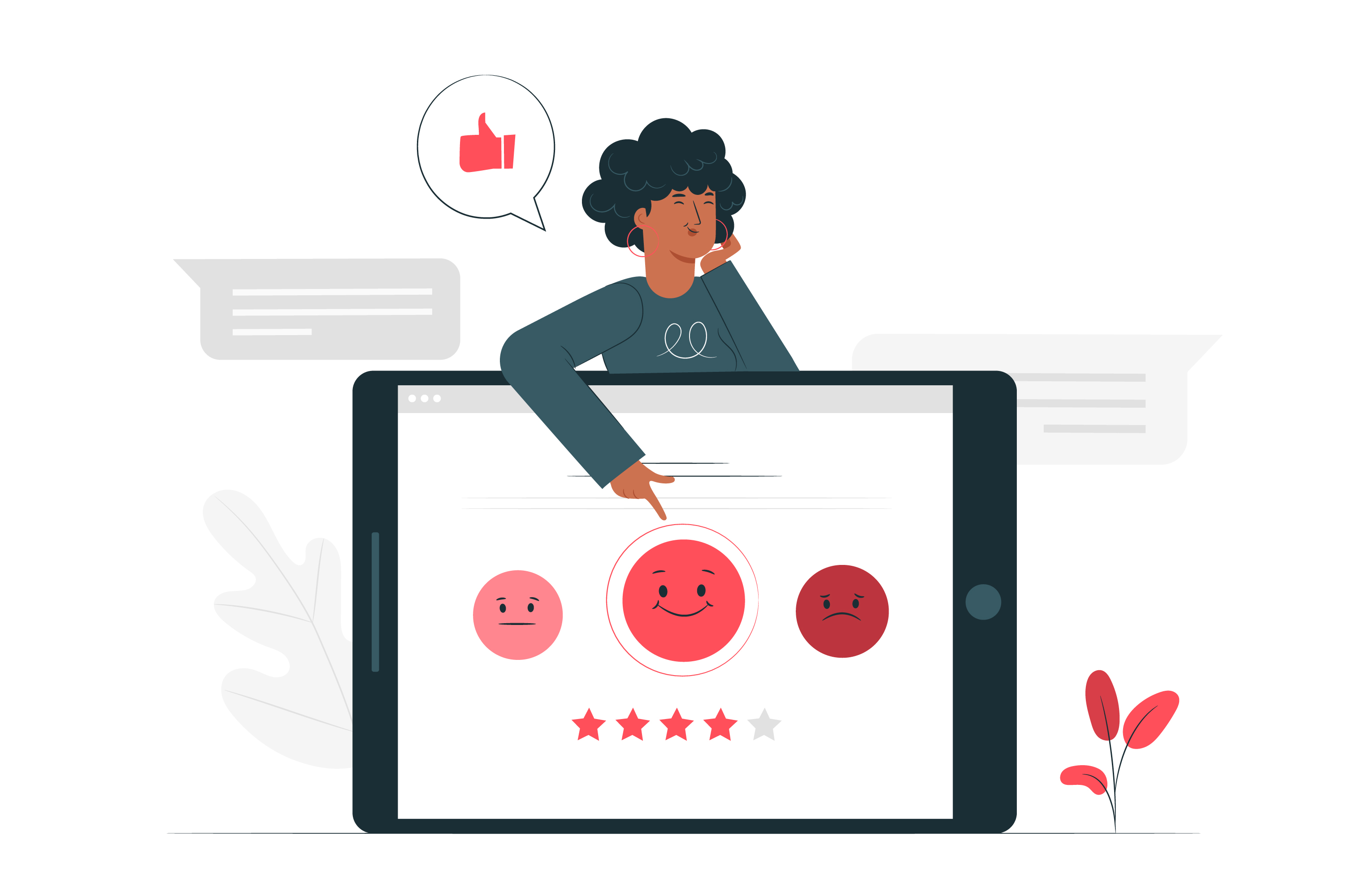 Why Page Experience is Important for Google Search Woman Giving Feedback