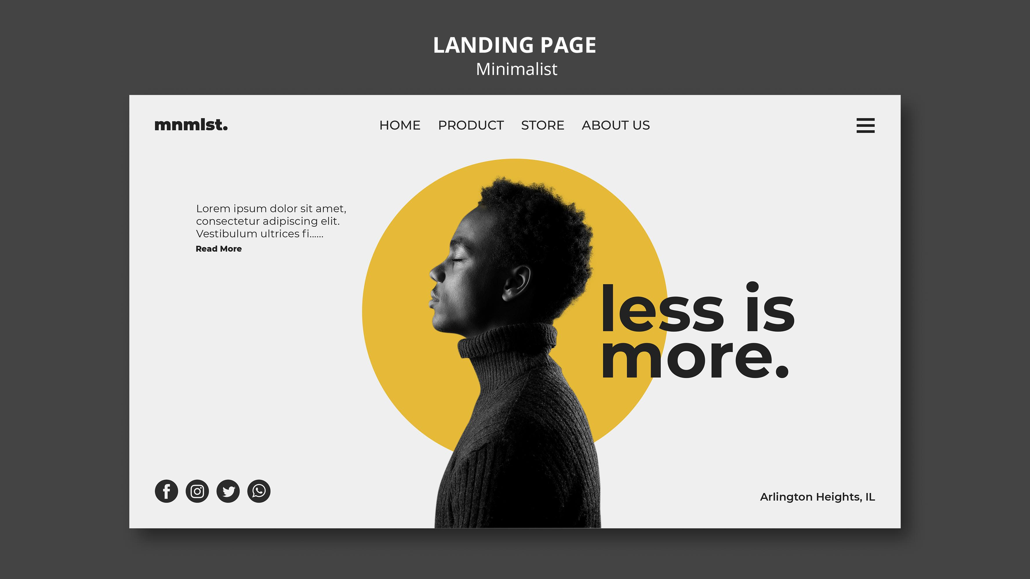 Psychological Principles of Design for Improved Landing Pages Less Is More