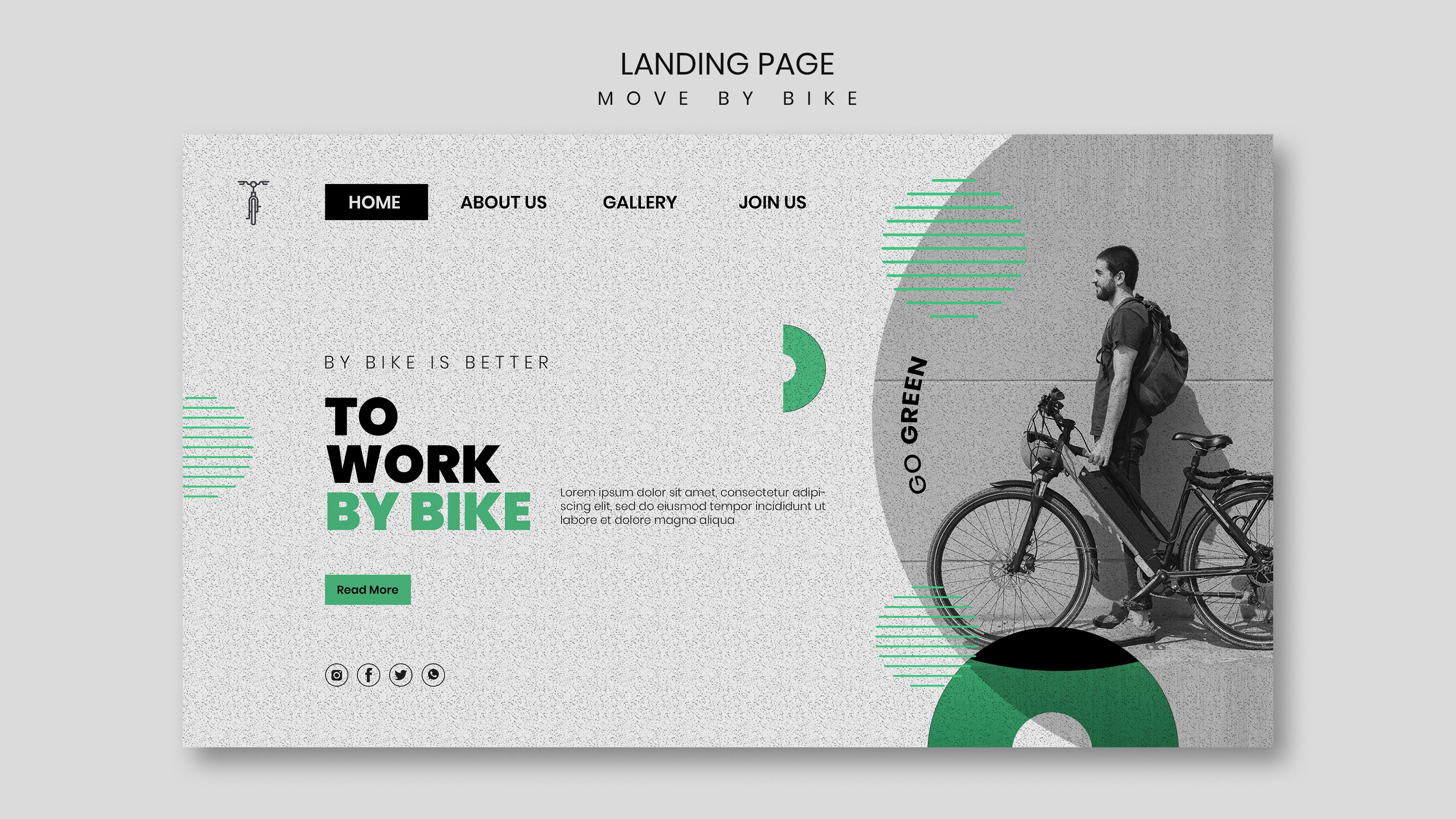 Psychological Principles of Design for Improved Landing Pages To Work By Bike