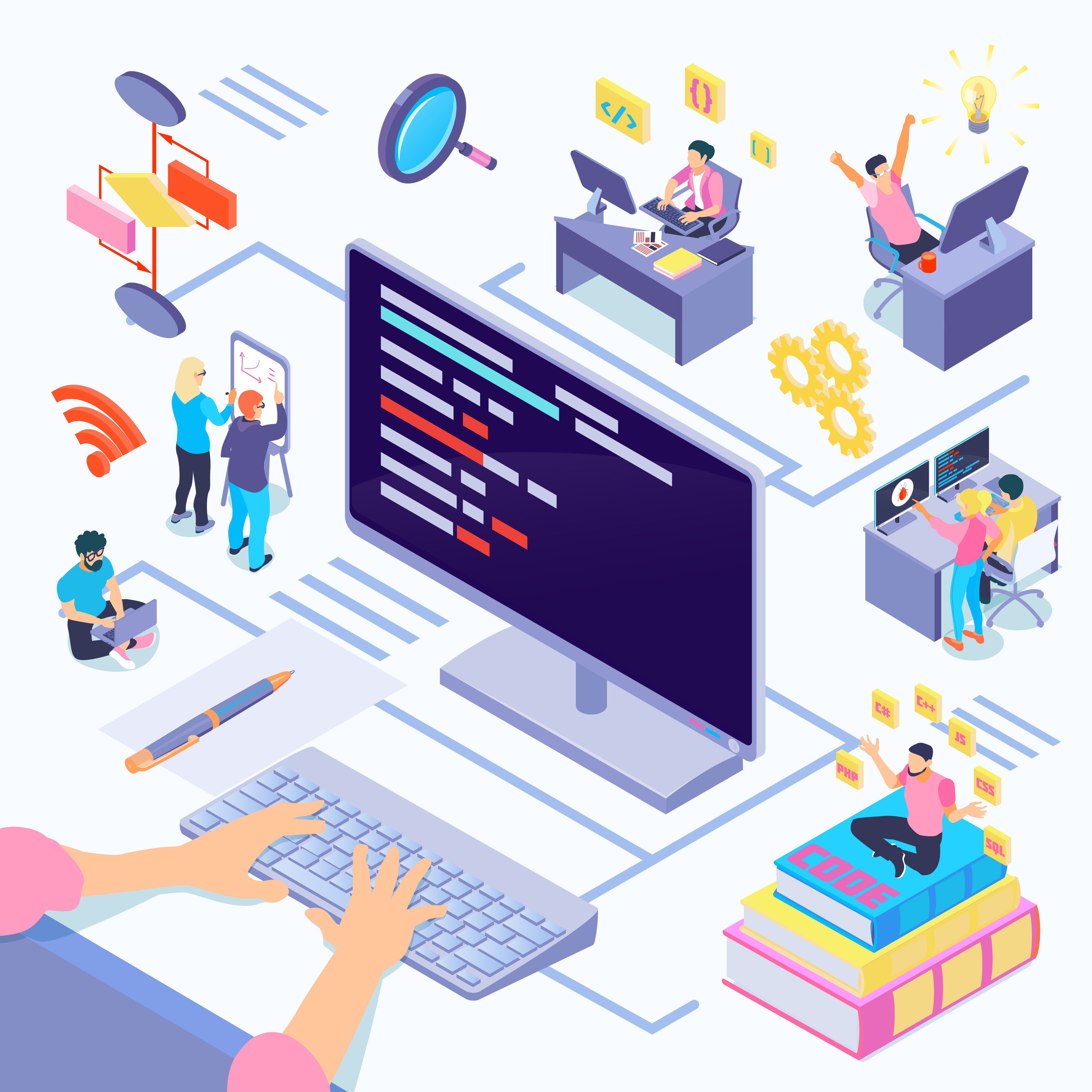 Top 10 Common Types of Business Software Software Developer Programmer Working on Business Software Codes