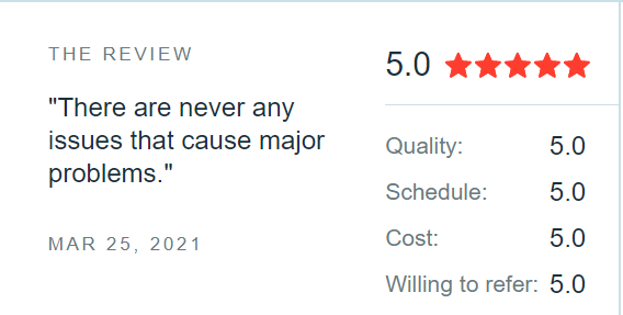 clutch 5-star rating