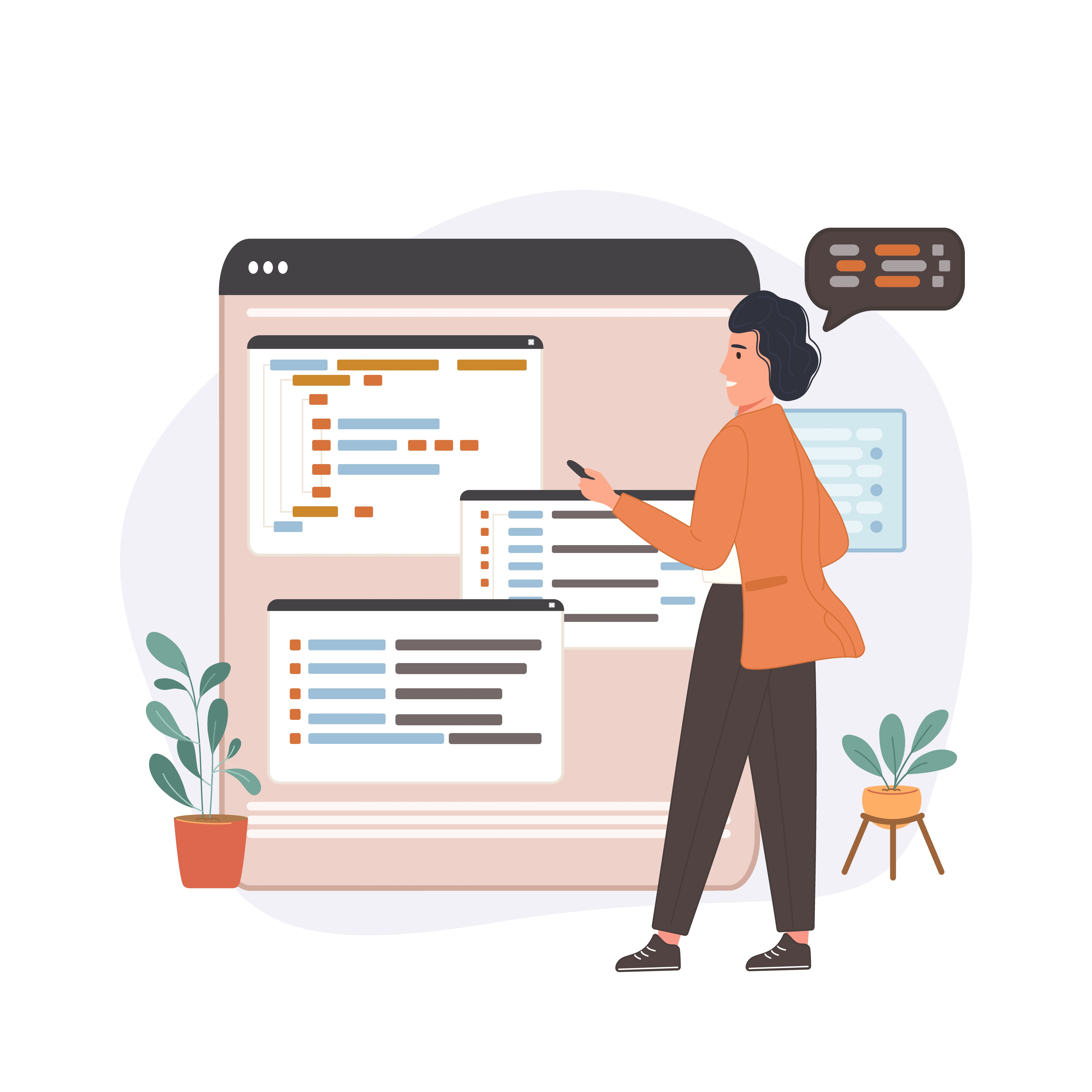 Basic Programming Languages for Web Developers Programmer Going Through Code