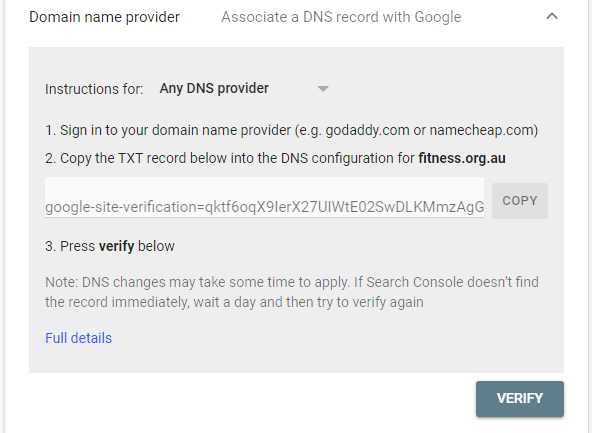 How to Improve SEO Using Google Search Console DNS TXT Record