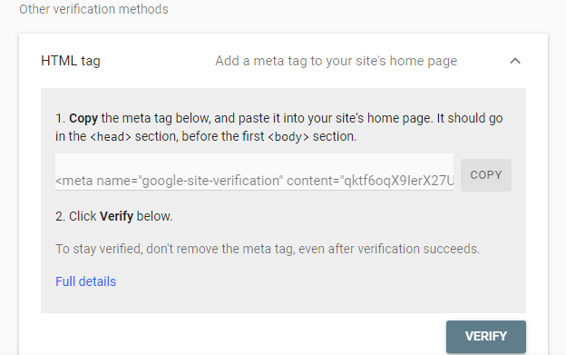 How to Improve SEO Using Google Search Console HTML Tag