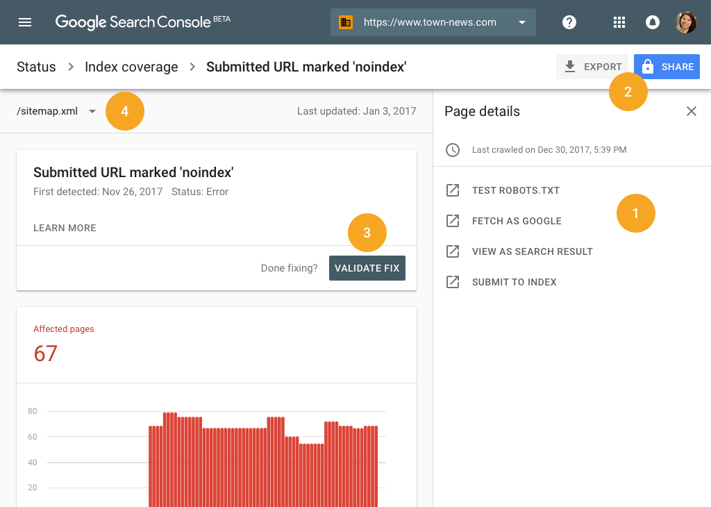 How to Improve SEO Using Google Search Console Search Console Index Coverage Dashboard