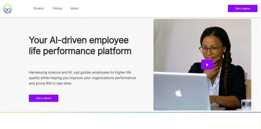 Your AI-driven employee life performance platform. The SYD homepage.