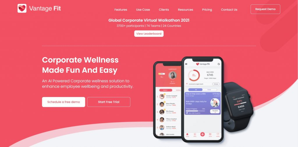 What Is Corporate Wellness Software Vantage Fit