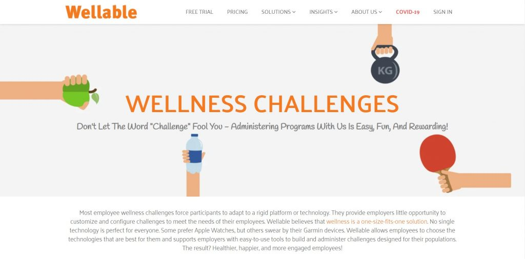 Don't let the word challenge fool you. Wellable Wellness Challenges.