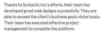 Dedicated Development Team Graphic Design Company Syntactics Review