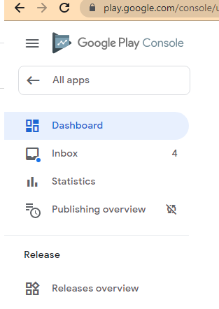 Google Play Console Interface