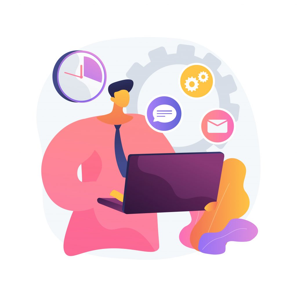 Account Administrator Abstract Concept Vector Illustration.