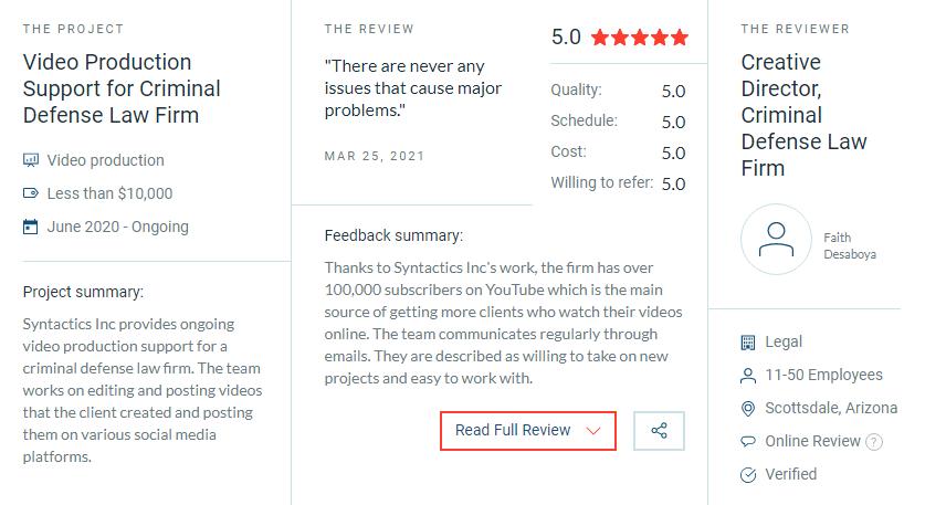 dedicated development team review