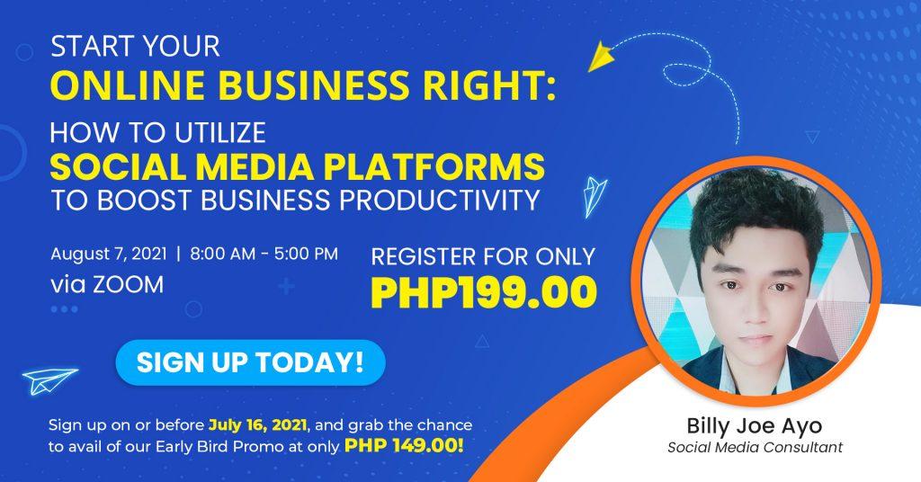 social media training website header