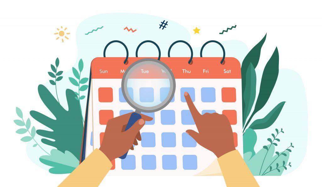 social media calendar, social media scheduler