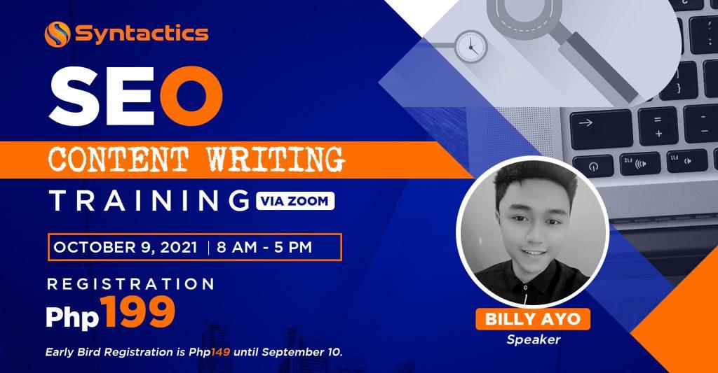 SEO Content Writing Header