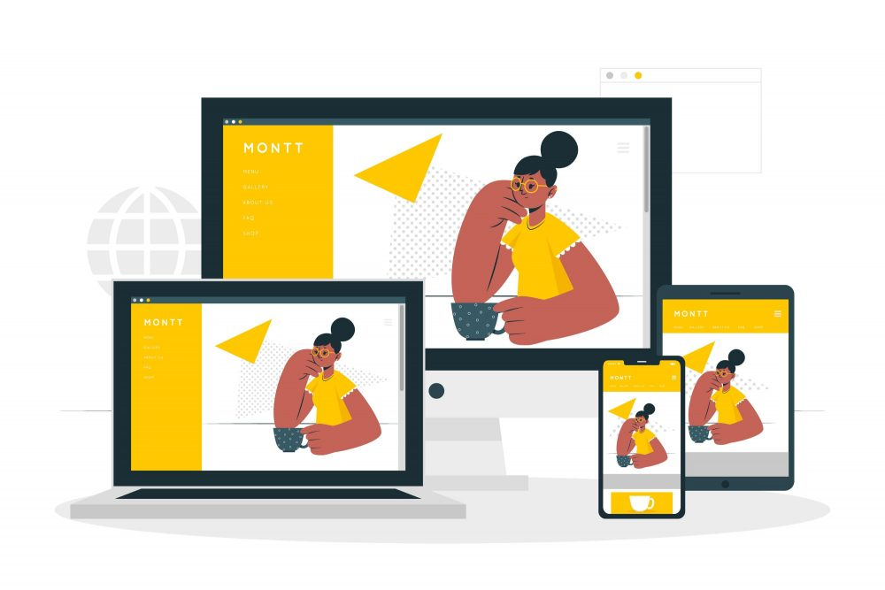 Steps On How To Build A Responsive Website Concept Of How Responsive Website Works On Various Devices
