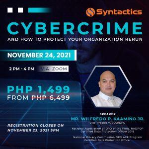 Syntactics Cybercrime Training Rerun 1080X1080