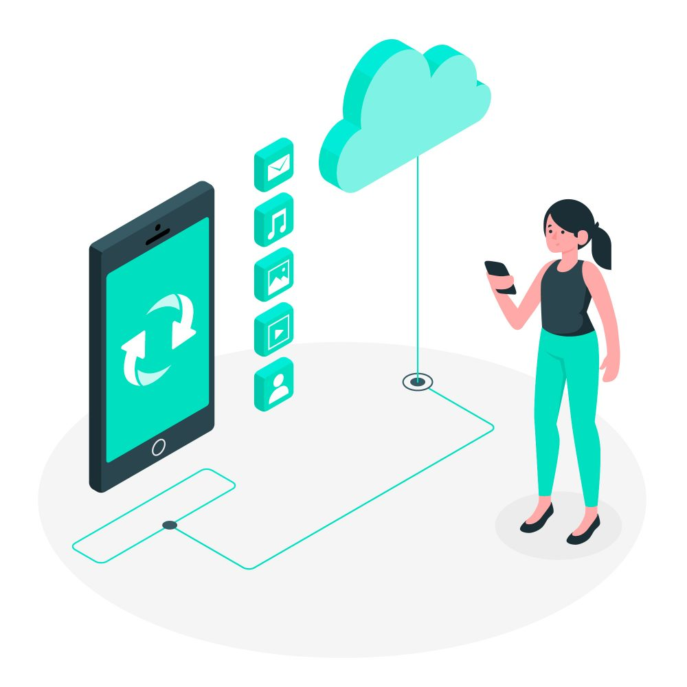 The Benefits Of Secure File Sharing And How To Do It Woman Syncinc Files On The Cloud For File Sharing